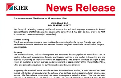 Kier | Reports, Results & Presentations