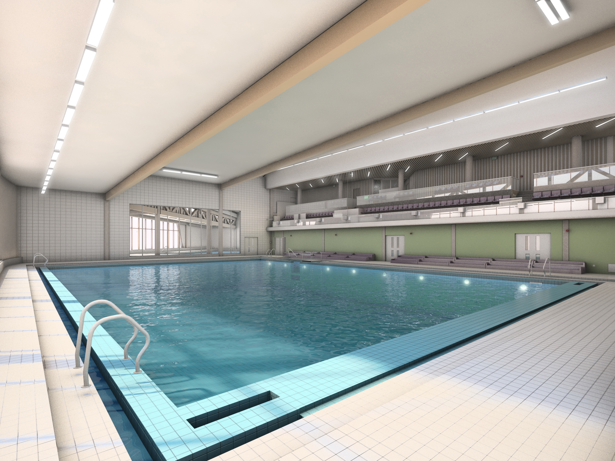 A CGI showing the swimming pool that will feature at St Sidwells Point